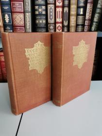 The Decameron of Giovanni Boccaccio 《十日谈》卜迦丘经典  布面精装 毛边本 全两卷  限量 2500套 ,其中供英国500 套 之编号 206