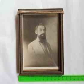 民国原框原装人物照林徽因父亲