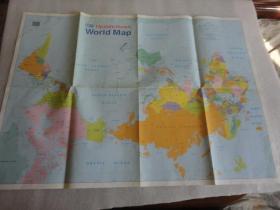 英文原版 世界地图 2开【087】