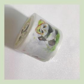 和纸胶带,纸染,滚滚熊猫