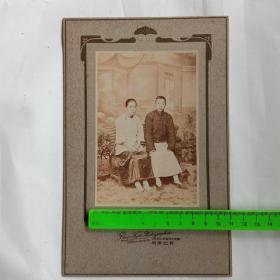 宁波东门华英大药房  宝记照相馆 人物老照片