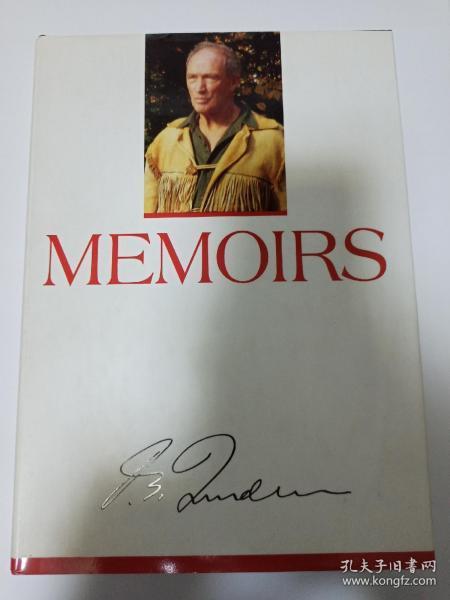 """加拿大多届政府总理""""中国人民的老朋友""""特鲁多亲笔签名本《MEMOIRS》,原版精装,品相如图"""