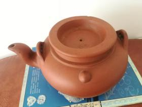 清末至民国初期:紫砂壶,盖上有两个生财葫芦款,底部是花款。保真。快递包邮。