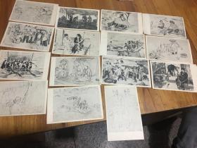 50--60年代,老,明信片 15张合售