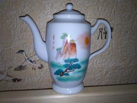 东方红  陶瓷 文革凉水茶壶