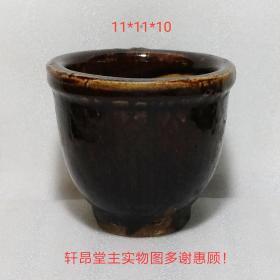 古朴小花盆(原为蒜臼)