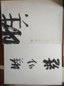 孙伯翔书画作品集  卡纸 毛笔签名题词