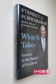 英文原版现货Stephen A. Schwarzman What It Takes: Lessons in the Pursuit of Excellence 苏世民:我的经验与教训 黑石