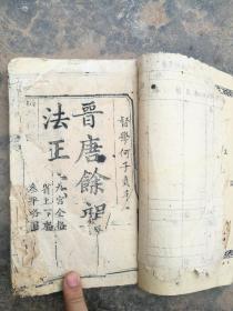 木刻厚本,练书法的,晋唐余韵六卷完整一套全