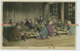 民国日本茶叶制作手工工坊工序-----筛选等级分类茶叶老明信片,百年前东瀛制茶历史工业级参考影像