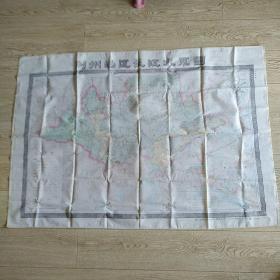 丝印地图:荆州地区长江水系图