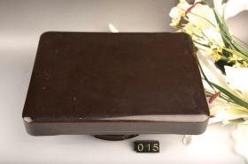 日本回流。创汇期回流花梨木盒、用料厚实、可用作随身砚台盒、香盒等