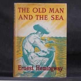 英文原版現貨 古董書 老人與海 THE OLD MAN AND THE SEA 1953年倫敦插圖初版 【硬精裝 原書衣】