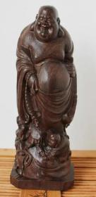 黑檀木木雕木雕佛像摆件高15厘米