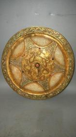 低价秒杀老铜器 战汉时期镶玉镶宝石铜镜1