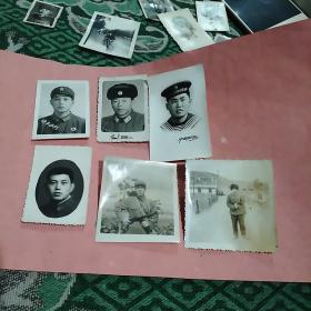 七十年代军人照6张合售(尺寸不一)
