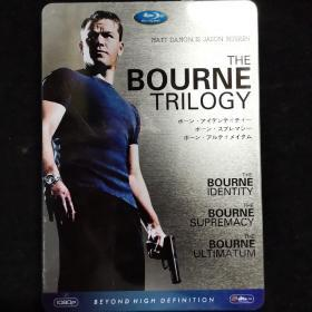 光盘蓝光【THE BOURNE TRILOGY 谍影重重三部曲终极套装 铁盒装 3DVD】402正版、可以正常播放
