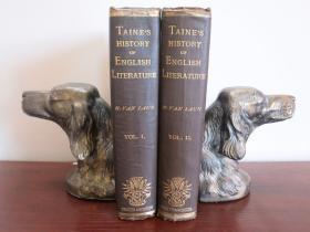 1880年泰纳的《英国文学史》2卷本 布面精装 Taine's History of English Literature