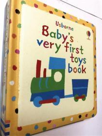 尾单纸板书 Babys Very First Book of Toys  封面海绵软衬