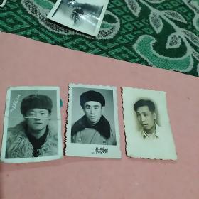 六七十年代男士照3张合售(其中一张有折痕)