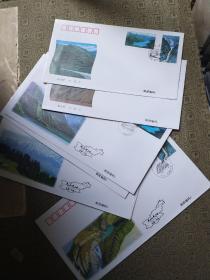 1996-19天山天池邮票首日封两套:6枚