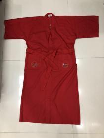 七八十年代创汇出口纯手工刺绣日式睡袍 风衣