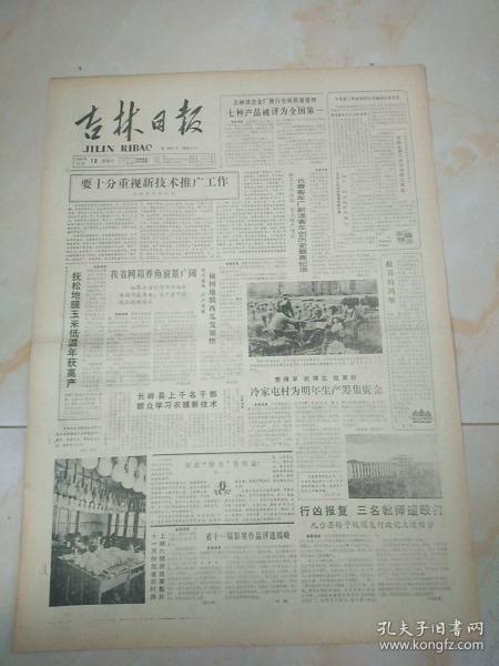 吉林日报1986年10月19日