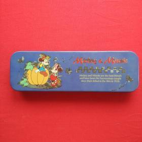 铅笔盒文具盒铁盒创意笔袋儿童文具卡通马口铁质双层软底笔盒