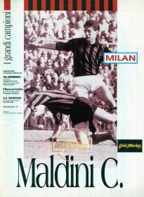 1997年ac米兰欧 纪念画册 意大利语原版 I GRANDI CAMPIONI 小册 老马尔蒂尼 maldini