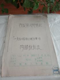 容城县人民法院1958年前的刑事案件