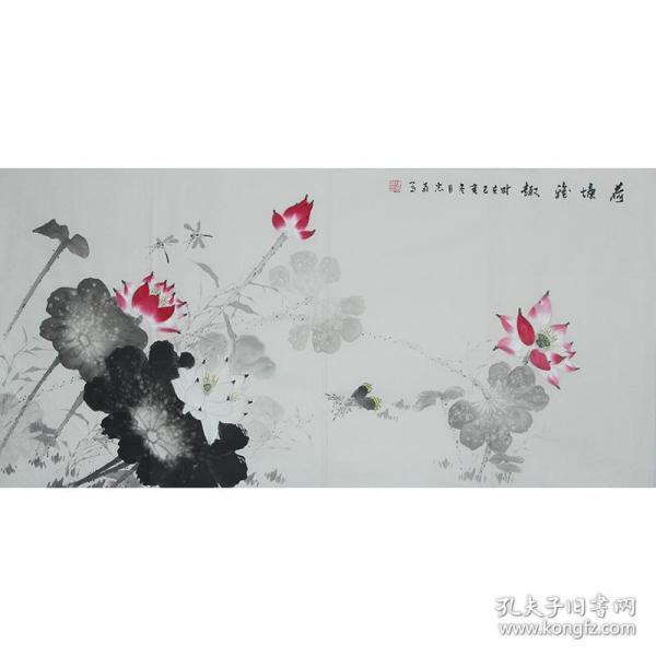 國家一級美術師陳忠南《荷塘雅趣》H1204