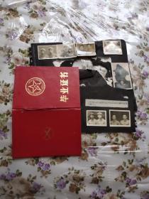 1964年中国人民解放军南京炮兵学校毕业证书有照片完整,另加完整照片10张