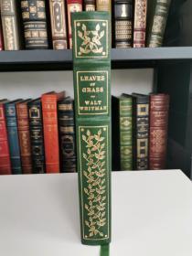 Leaves of Grass 《草叶集》 walt whitman  惠特曼诗集 Franklin library 1979年出版 真皮书脊 布面精装版
