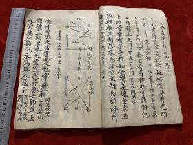 晚清民国道家法术符咒毛笔手抄本《羽化安历秘旨》各种符咒、图案,看不懂