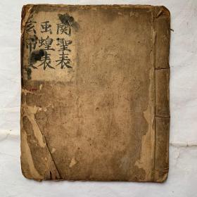 清代同治年宗教手抄本:投闗圣表科、驱遣虫蝗表科、玄帝表科