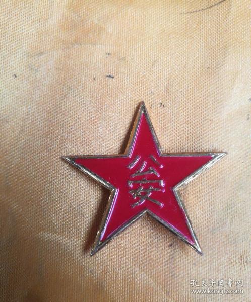 仿50-55式公安军帽徽一枚。品相如图所示。