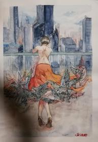 中央美院夏俊娜水粉作品一幅(3)