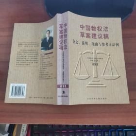 中国物权法草案建议稿:条文、说明、理由与参考立法例