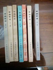 中国菜谱:广东  四川 湖南 湖北  江苏 山东 北京共七本,都是一版一印,品相九成新,无笔记水渍,书口自然旧如图,书脊完整。