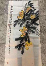 江南梅王,已故画家吴朴老师四尺整张作品