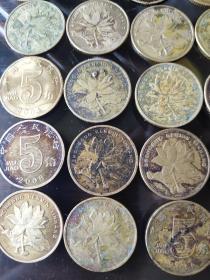 荷花5角,包浆币,趣味币,共25枚,单枚6元起,一币一价,打包100元非偏远地区包邮!