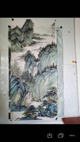 名人字画;国画山水画吴败作品180厘米*80厘米