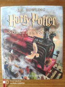 哈利波特与魔法石,Harry Potter英文彩绘,中国印刷第一版