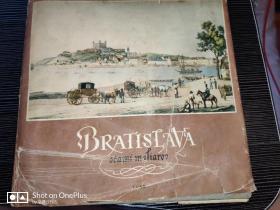 BRATISLAVA   硬精装  斯洛伐克首都布拉迪斯拉发风景画   捷克语  1954年出版 24开