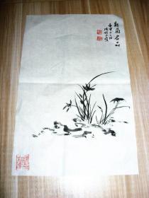 陆俨少,故国兰花一种46×29。梅花一种。33×26cm,二种合售,审美视角在山水之上,逍遥自在。