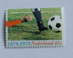 【外国邮品 荷兰 1979 足球百年 1全 邮票 】体育运动邮票