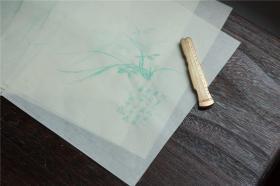 雕版印刷罗聘兰花笺信笺每套20枚手工制作