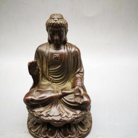 铜器铜佛像摆件高10厘米