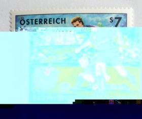 【外国邮品  奥地利 2001足球23赛 1全 邮票】体育运动邮票
