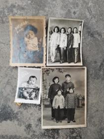 文革时期老照片4张